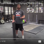 Use Greg Everett's 2-minute foam rolling routine to prepare for your Olympic lifts!