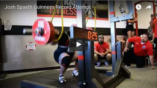 Watch this man shatter the world record for most squats in one minute!