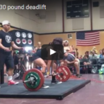 Watch Kellie Davis deadlift nearly 3 times her own bodyweight!