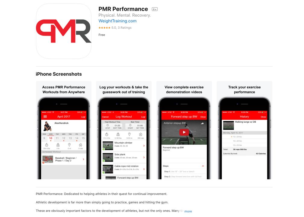 PMR Performance iPhone App