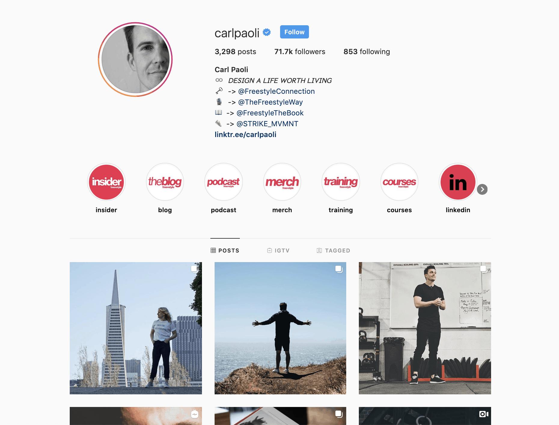 Carl Paoli Instagram