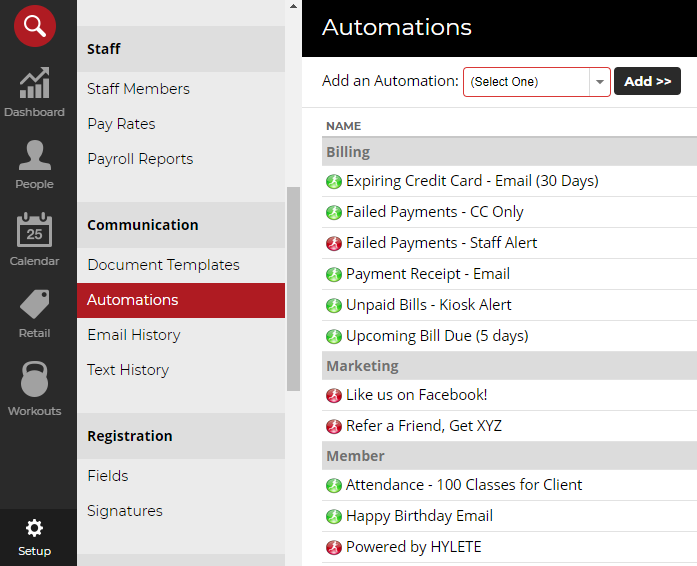 Setting up email automations in Zen Planner
