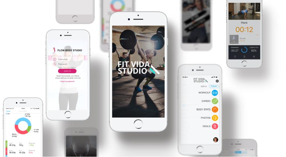 Sample of custom branded apps in Trainerize