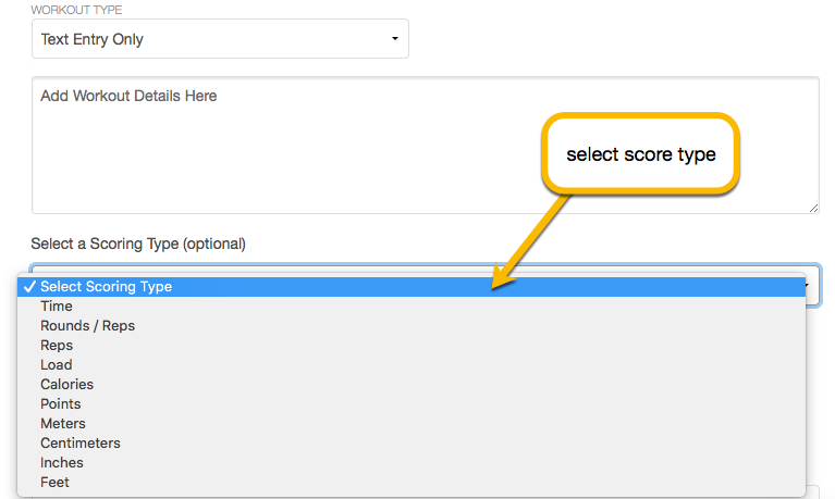 select score type