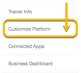 customize platform tab