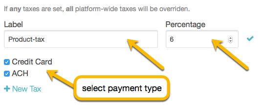 customize tax
