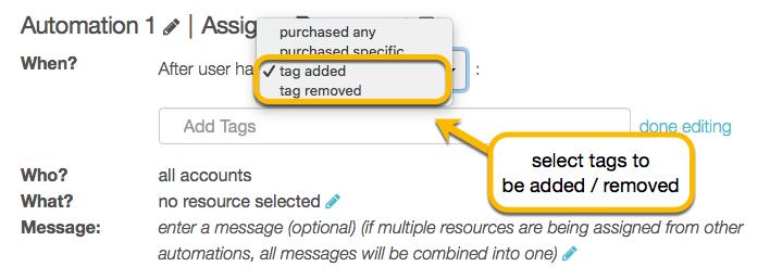 tag options