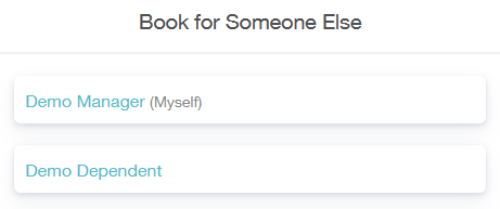 book for someone else menu