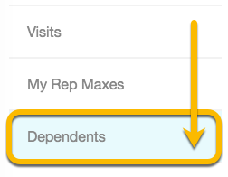 dependents tab