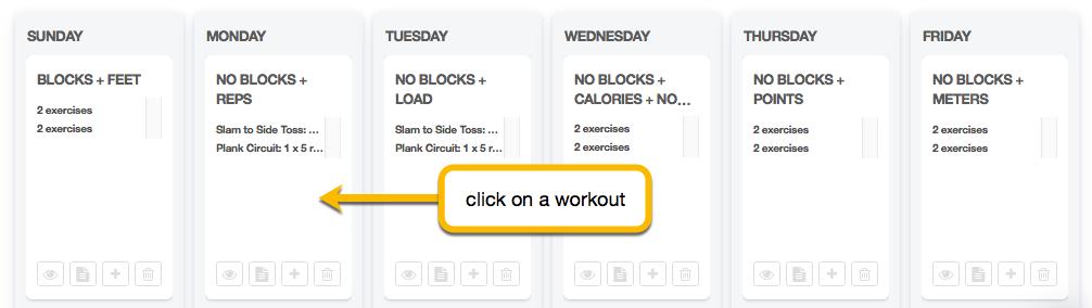 edit workout