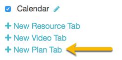 add new plan tab