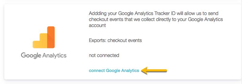 connect google analytics