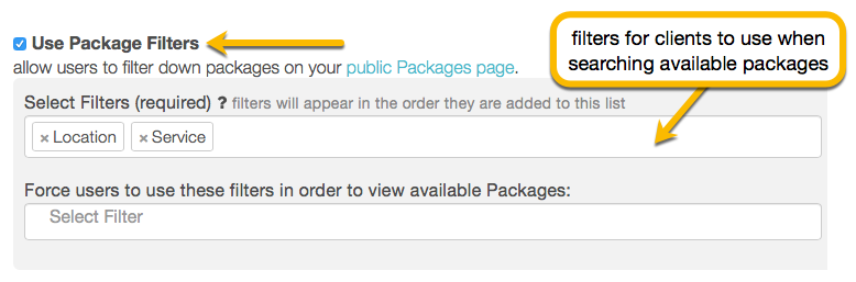 package filters