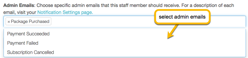 admin emails