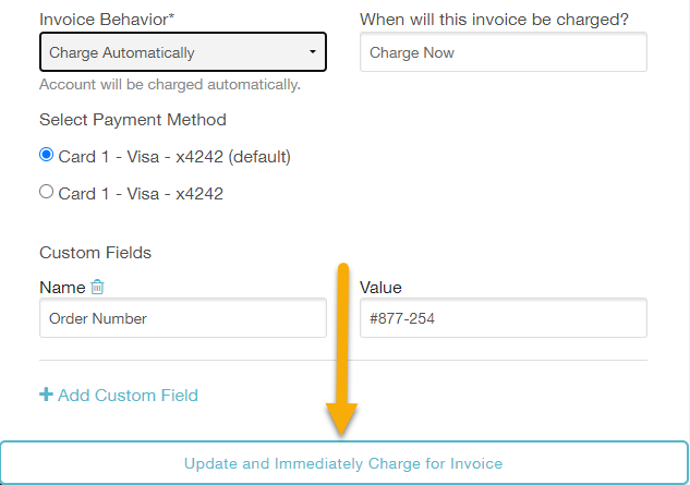 charge the invoice automatically