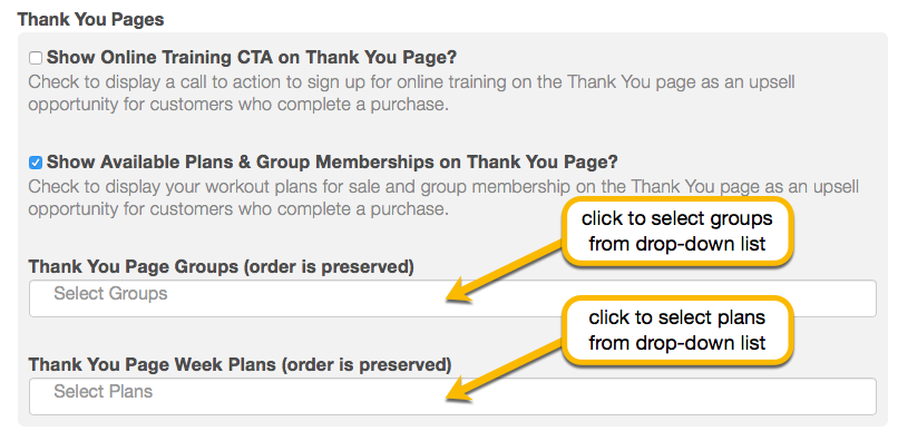 customize thank you page